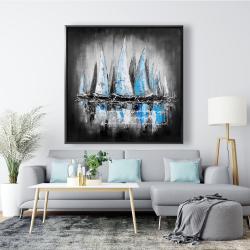 Framed 48 x 48 - Blue boats