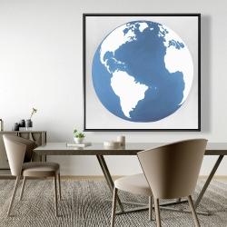 Framed 48 x 48 - The earth