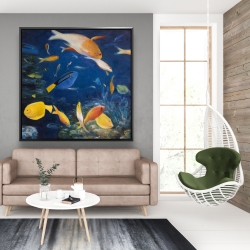 Framed 48 x 48 - Colorful fish under the sea