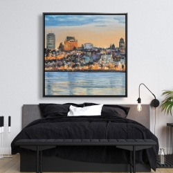 Framed 48 x 48 - Skyline of quebec city