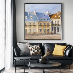 Framed 48 x 48 - Old quebec city