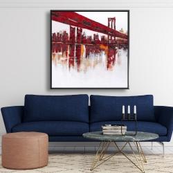 Framed 48 x 48 - Red bridge