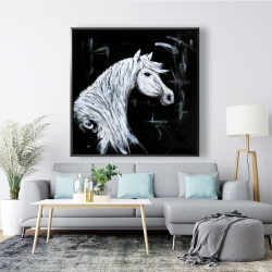 Framed 48 x 48 - Horse profile view