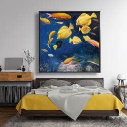 Framed 48 x 48 - Fish under the sea