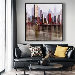 Framed 48 x 48 - Industrial city style