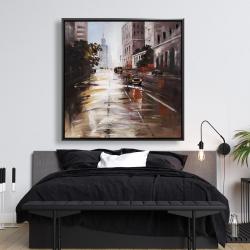 Framed 48 x 48 - Morning street scene