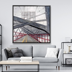 Framed 48 x 48 - Under the brooklyn bridge