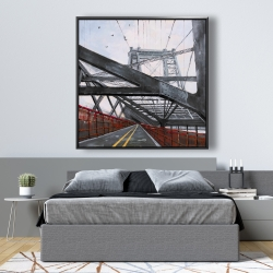 Framed 48 x 48 - Bridge architecture