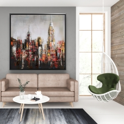 Framed 48 x 48 - Paint splash city