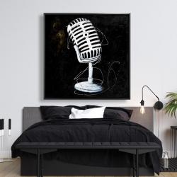 Framed 48 x 48 - Microphone