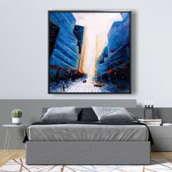 Framed 48 x 48 - Blue asymmetrical street