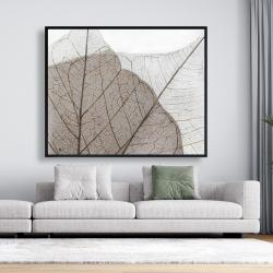 Framed 48 x 60 - Translucent dried leaves