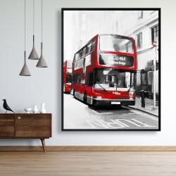 Framed 48 x 60 - Red bus londoner