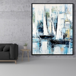 Framed 48 x 60 - Industrial style boats
