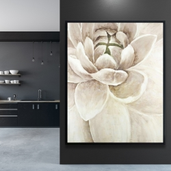 Framed 48 x 60 - Delicate chrysanthemum
