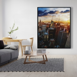 Framed 48 x 60 - City of new york by dawn