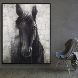 Framed 48 x 60 - Black horse