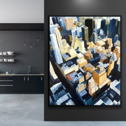 Framed 48 x 60 - Manhattan view of the empire state building