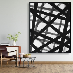 Framed 48 x 60 - Abstract bold lines