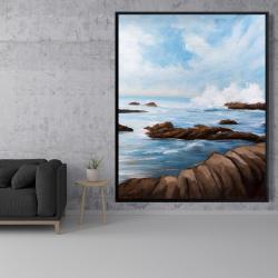 Framed 48 x 60 - Seaside storm