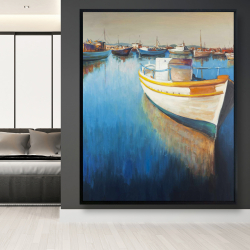 Framed 48 x 60 - Fishing boats at the marina