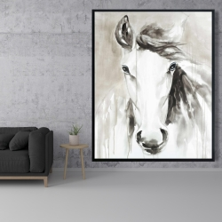 Framed 48 x 60 - Beautiful abstract horse
