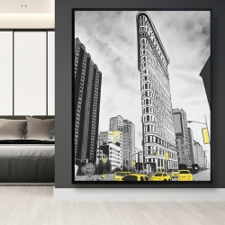 Framed 48 x 60 - Outline of flatiron building to new-york