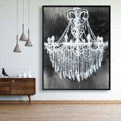 Framed 48 x 60 - Big glam chandelier
