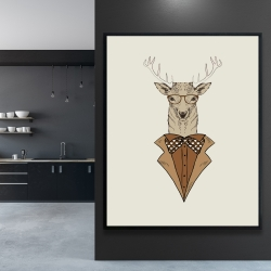 Framed 48 x 60 -  deer with brown coat
