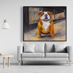Framed 48 x 60 - Smiling bulldog