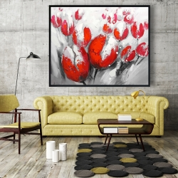 Framed 48 x 60 - Red tulips
