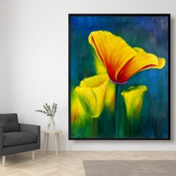 Framed 48 x 60 - Beautiful colorful flowers