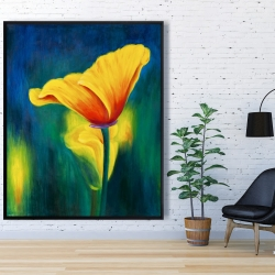 Framed 48 x 60 - Superb contrast flowers