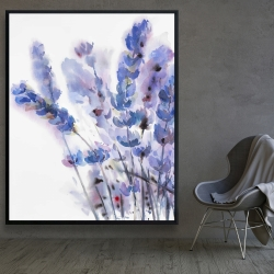Framed 48 x 60 - Watercolor lavender flowers