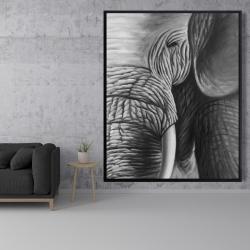 Framed 48 x 60 - Elephant