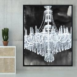 Framed 48 x 60 - Glam chandelier