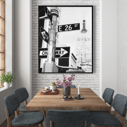 Framed 48 x 60 - New york city street signs