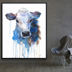 Framed 48 x 60 - Watercolor jersey cow