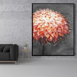 Framed 48 x 60 - Abstract dahlia flower