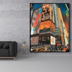 Framed 48 x 60 - Illuminated new york city street