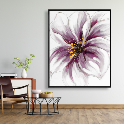 Framed 48 x 60 - Purple orchid