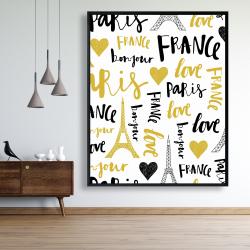 Framed 48 x 60 - Bonjour la france 1