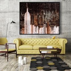 Framed 48 x 60 - The empire city of newyork