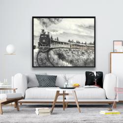 Framed 48 x 60 - Steam engine train