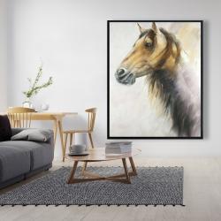 Framed 48 x 60 - Wild horse