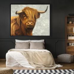 Framed 48 x 60 - Highland cattle