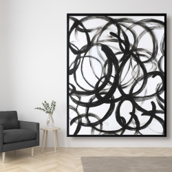 Framed 48 x 60 - Abstract curly lines