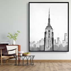 Framed 48 x 60 - Empire state building