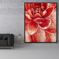 Framed 48 x 60 - Red chrysanthemum
