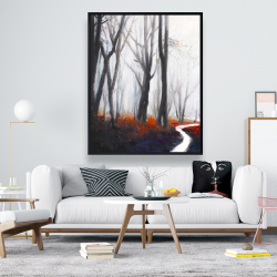 Framed 48 x 60 - Mysterious forest with stream